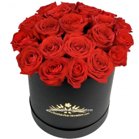 "Коробка красных роз ""Дория"""