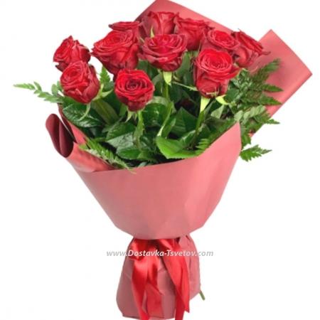 """Красные розы """"Елизавета II"""""""