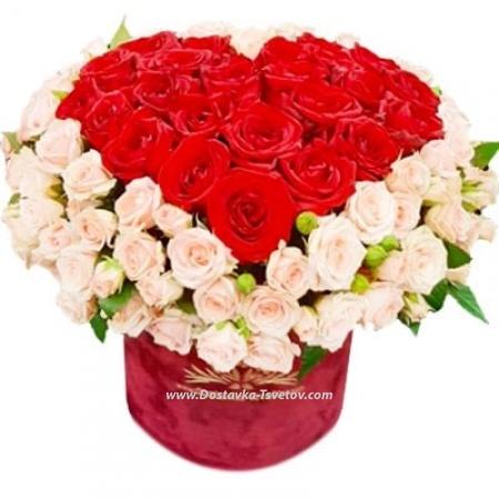 "Коробка роз ""Эсмеральда"""