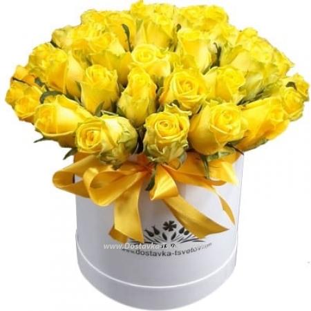 """Желтые розы """"Санни Бич"""""""