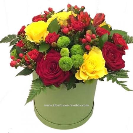 """Цветы в коробке """"Свежесть Дня"""""""
