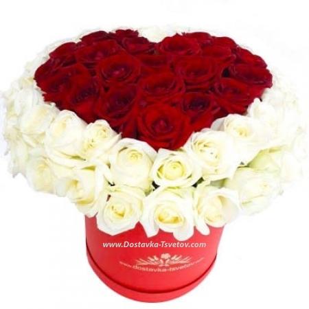 "Сердце из роз ""Любовь навеки"""
