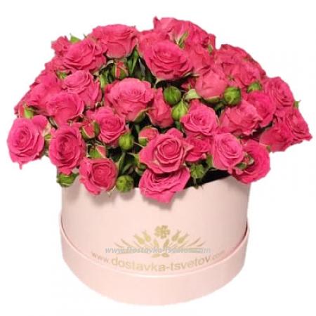 "Коробка кустовых роз ""Василиса"""