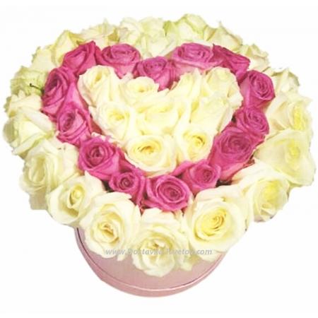 """Сердце в розах """"Самая Любимая"""""""