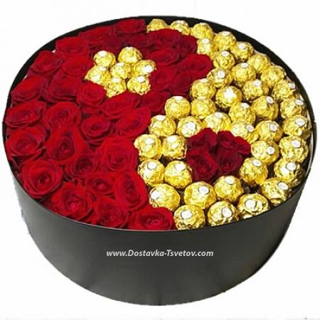 """Розы и конфеты """"Бесконечность"""""""