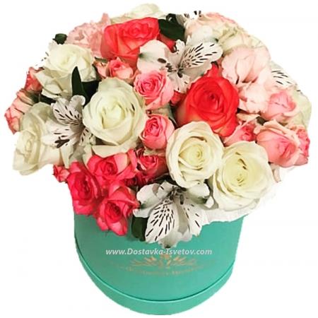 """Коробка цветов-микс """"Джессика"""""""