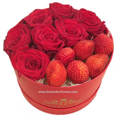"""Розы и ягоды """"Клубничный Джем"""""""