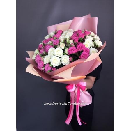 """Букет кустовых роз """"Алисия"""""""