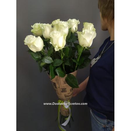 """Цветы Высокие розы """"Белый аист"""""""