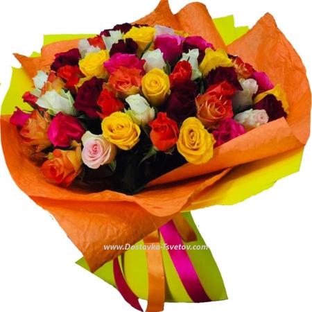 "Букет кенийских роз ""Летняя Прогулка"""