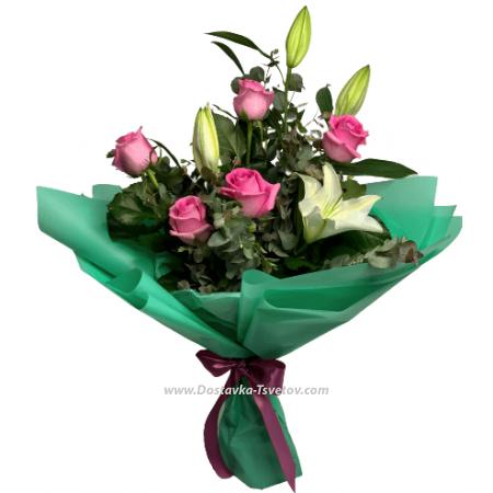 """Лилии и розы """"Вафелька"""""""
