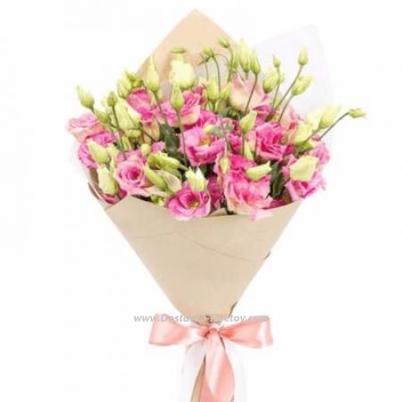 """Розовые эустомы """"Подарок Лета"""""""