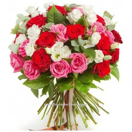 """Эустомы и розы """"Пляски Красок"""""""