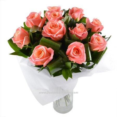 """Букет из розовых роз """"Ваниль"""""""