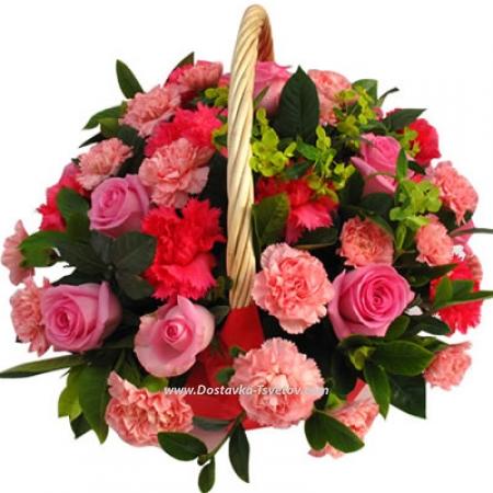 """Гвоздики и розы """"Джульетта"""""""