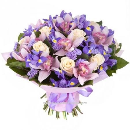 """Орхидеи с ирисами """"Госпожа"""""""