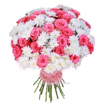 """Розы Розы и хризантемы """"Гармония"""""""