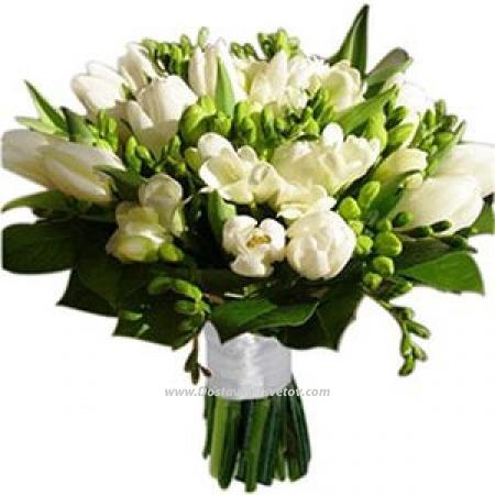 """Фрезии и тюльпаны """"Журавлик"""""""