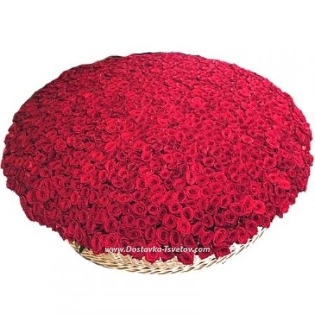 "Огромная корзина ""1001 Роза"""