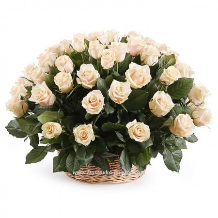 """Розы в корзине """"Милая Дама"""""""