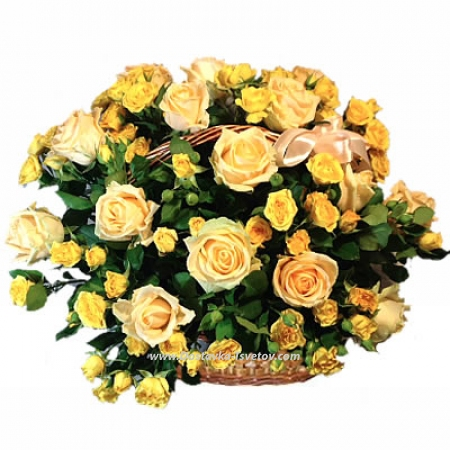 """Розы в корзине """"Прикосновение"""""""