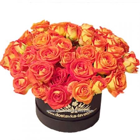 """Розы в коробке """"Ирэн"""""""