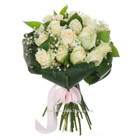 """Белые розы невесте """"Ожидание"""""""