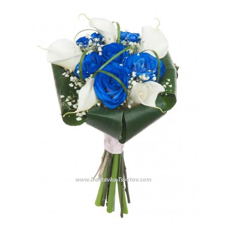 """Синие розы для невесты """"Гламур"""""""
