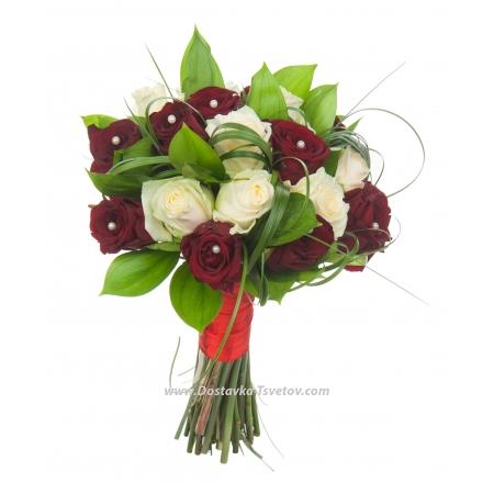 """Букет роз для невесты """"Милан"""""""