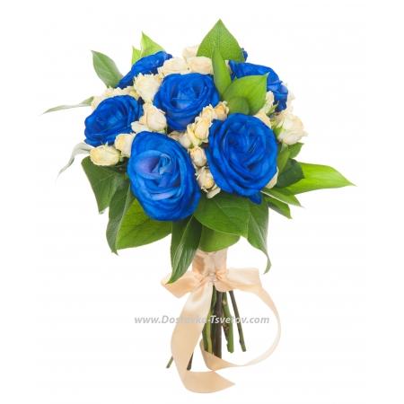 """Синие розы невесте """"Карнавал"""""""