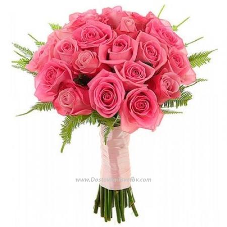 "Букет роз ""Румяная Невеста"""
