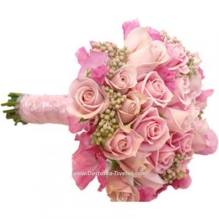 """Букет невесты """"Розовый Кварц"""""""