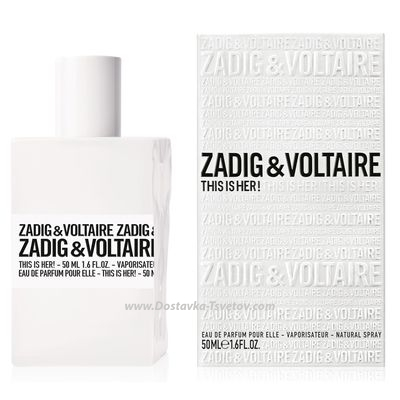 Парфюмерия Туалетная вода ZADIG&VOLTAIRE THIS IS HER 50 мл
