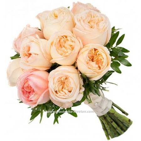 """Пионовидные розы """"Капуччино"""""""