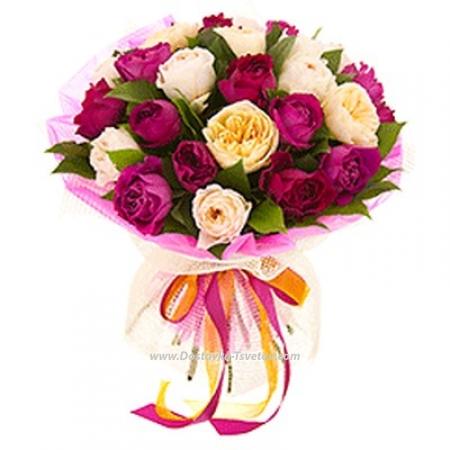 """Разноцветные розы """"Спутница"""""""