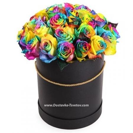 """Коробка ярких роз """"Орнамент"""""""