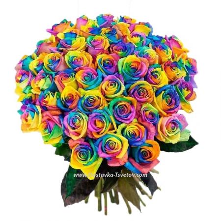 """Букет роз """"Радуга Любви"""""""
