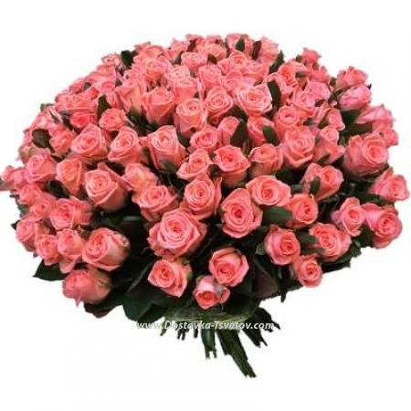 """Нежно-розовые розы """"Барбара"""""""