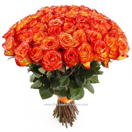 """Рыжие розы """"Огненная Страсть"""""""
