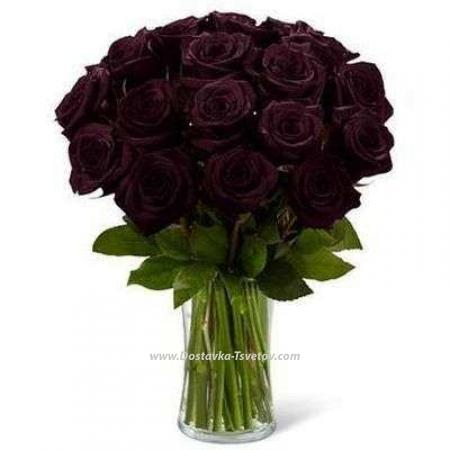 """Букет чёрных роз """"Стихия"""""""