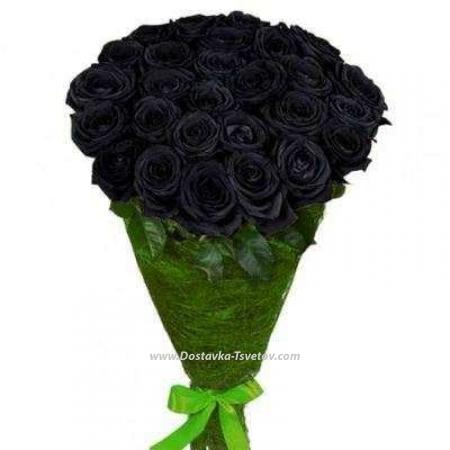 """Чёрный букет роз """"Графит"""""""