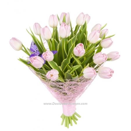 """Букет розовых тюльпанов """"Алла"""""""