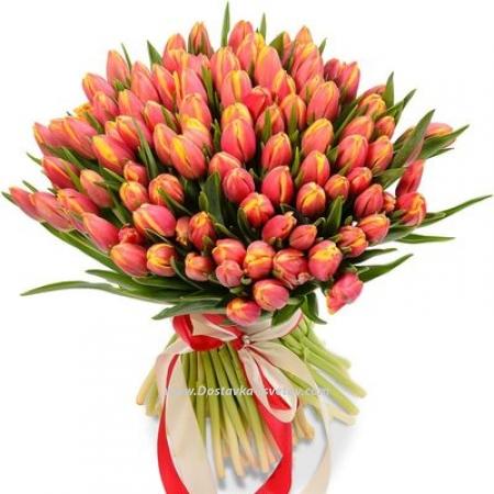 "Яркий букет тюльпанов ""Арагон"""