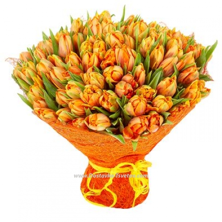 "Оранжевые тюльпаны ""Юпитер"""