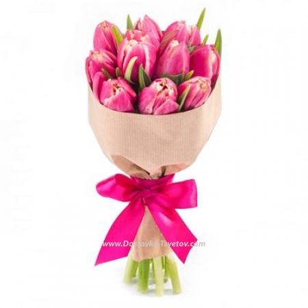 """Розовые тюльпаны """"Ибица"""""""