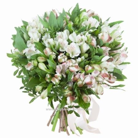 """Букет белых цветов """"Одуванчик"""""""