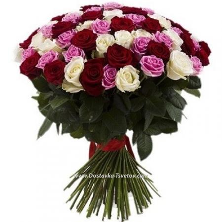 """Разноцветные розы """"Конфетка"""""""