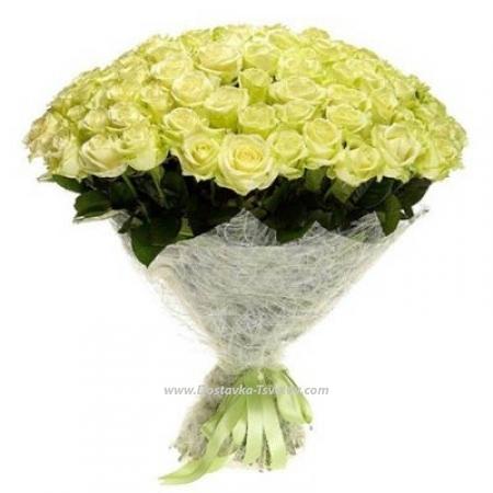 """Букет белых роз """"Аллея Любви"""""""