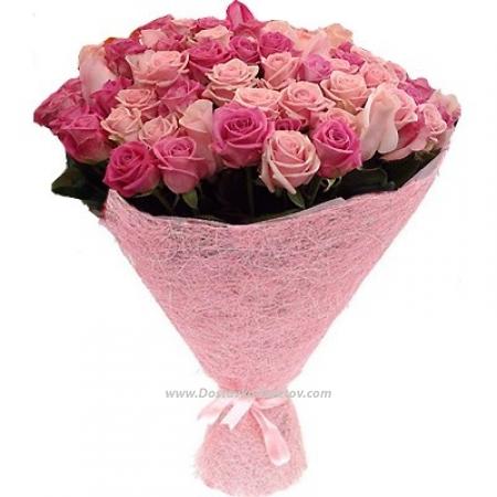 """Розовые розы """"Стрела Амура"""""""