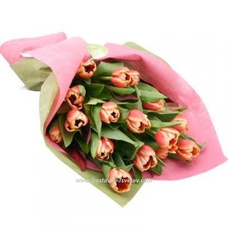 """17 тюльпанов в букете """"Львица"""""""